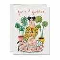Red Cap Cards - RCC Cushion Goddess Greeting Card