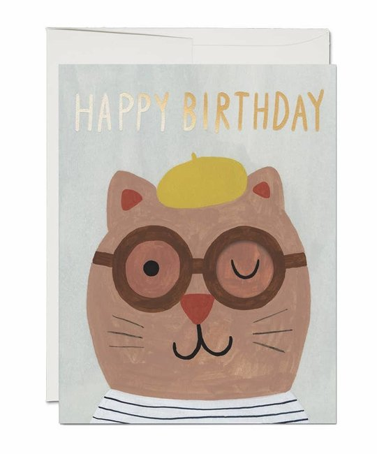 Red Cap Cards - RCC Lots of Cat French Fold Birthday Card