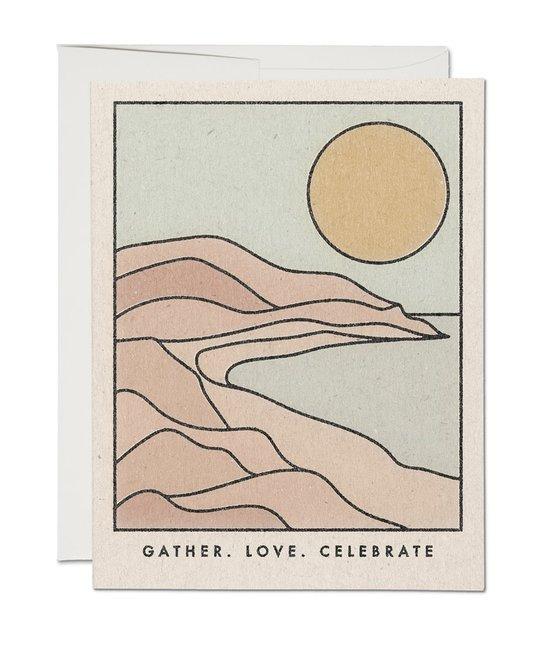 Red Cap Cards - RCC Gather Love Celebrate Greeting Card