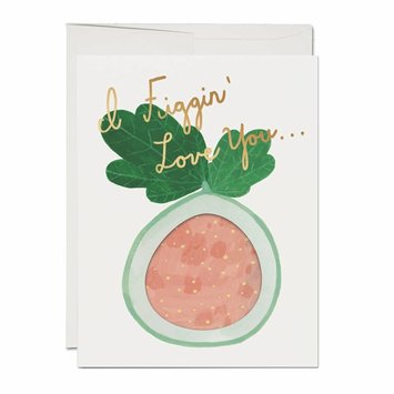 Red Cap Cards Figgin' Love French Fold Card