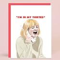 Greenwich Letterpress GLGCBI0029 - The Thirties Birthday Card