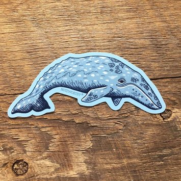 Noteworthy Paper and Press Gray Whale Sticker