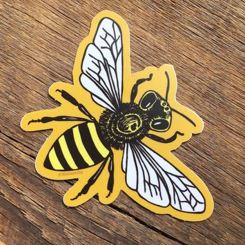 Noteworthy Paper and Press Honey Bee Sticker