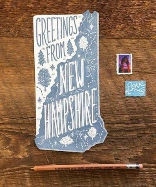 Noteworthy Paper and Press - NPP Greetings From New Hampshire Postcard