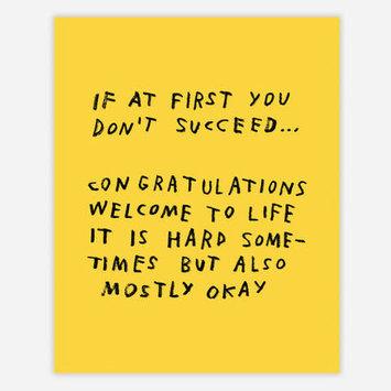 """AdamJK - AJK AJK PRSM - If At First You Don't Succeed Print, 8"""" x 10"""""""