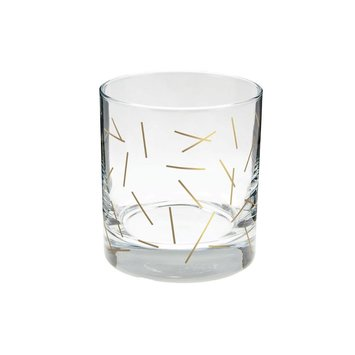 Talking Out Of Turn - TOOT TOOT HG - Gold Sticks Rock Glass