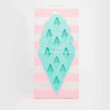 Sunnylife Ice Cream Ice Cube Trays, set of 2, pink + turquoise