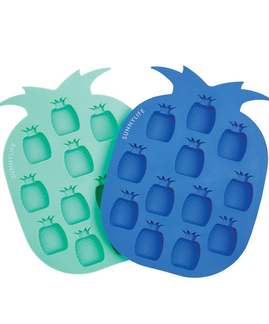 Sunnylife Pineapple Ice Cube Trays, set of 2, turquoise + navy