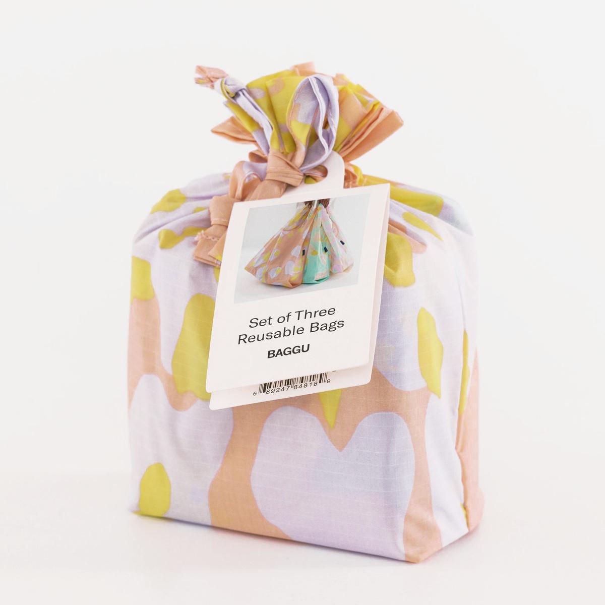 BAGGU Baggu Tie Dye Standard Baggu Set of 3