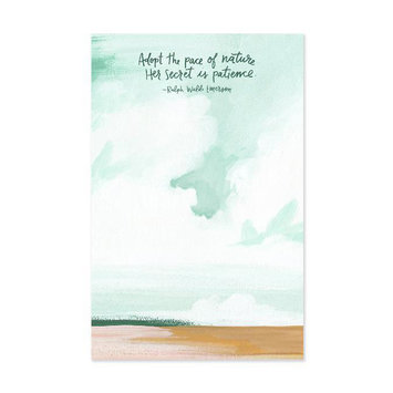 one canoe two letterpress Rodanthe Notepad