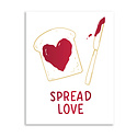 Gus and Ruby Letterpress Gus & Ruby - Spread Love, red foil