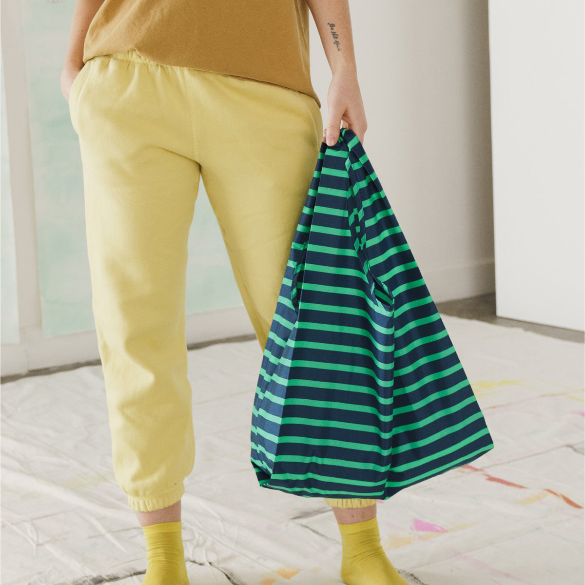 Baggu - BA Baggu Aloe Sailor Stripe Reusable Bag
