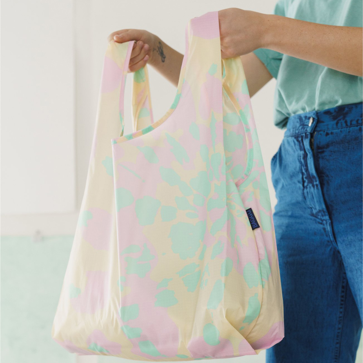 BAGGU Baggu Tie Dye Pink Reusable Bag