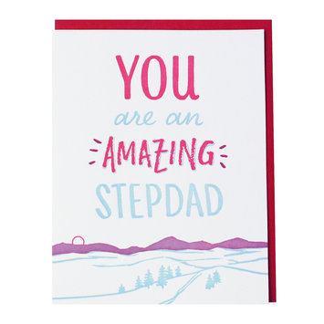 Smudge Ink Mountain Stepdad Card