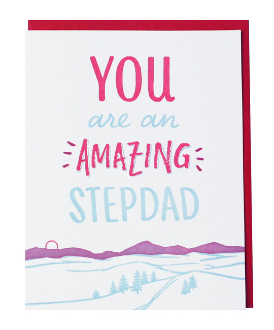 Smudge Ink - SI Mountain Stepdad Card