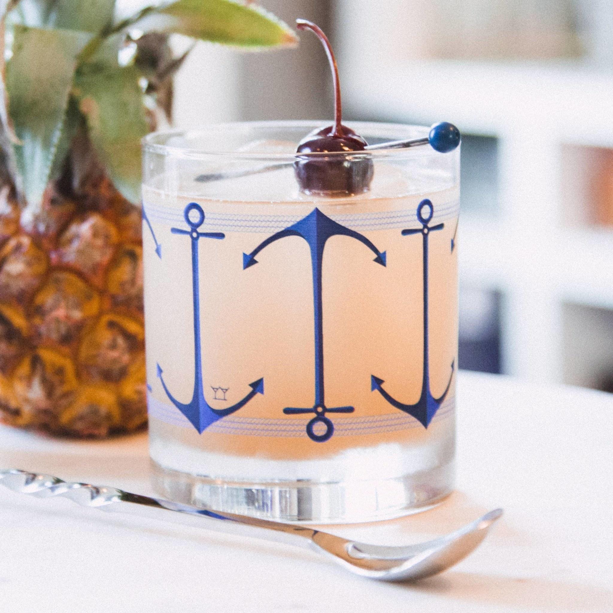 The Modern Home Bar MHB HG - Anchors Aweigh Rocks Glass