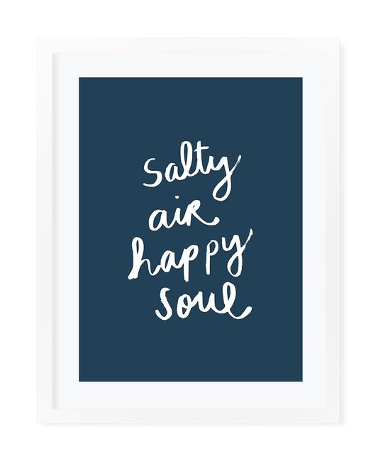 "Evergreen Summer Linus ""Salty Air Happy Soul"" Art Print 16"" x 20"""