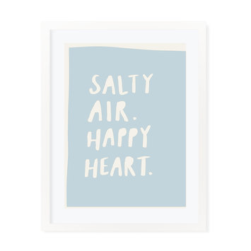 "Evergreen Summer Anne ""Salty Air Happy Heart"" Art Print 11""x14"""