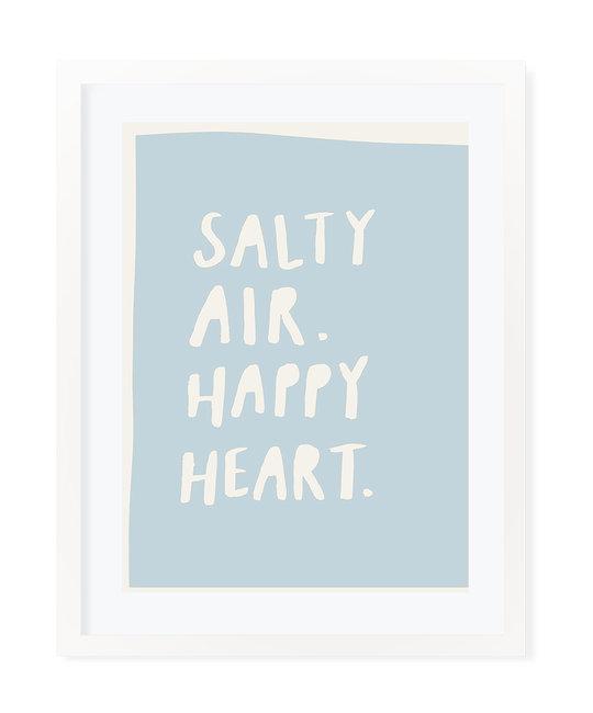 "Evergreen Summer Anne ""Salty Air Happy Heart"" Art Print 16"" x 20"""