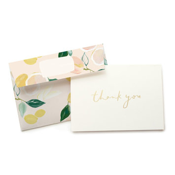 Our Heiday Citrus Thank You Noteset, 6 pack