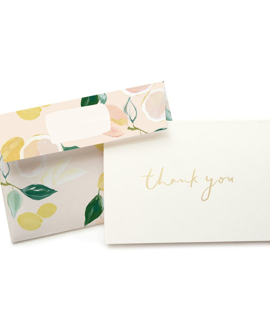 Our Heiday - OH Citrus Thank You Noteset, 6 pack