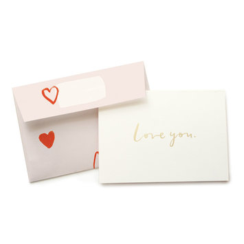 Our Heiday - OH Love You card with heart envelope