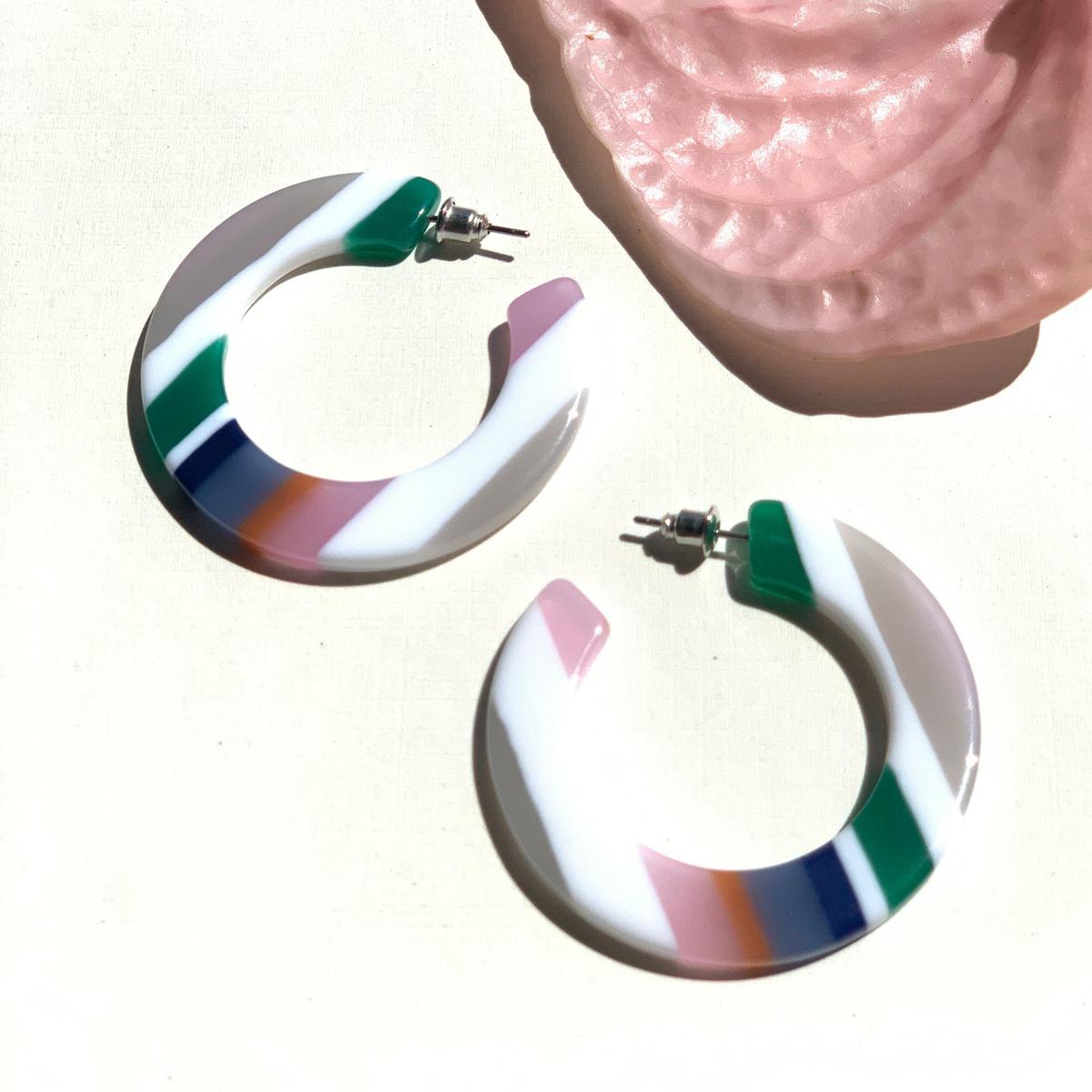 Casa Clara Candy Stripe Rhea Earrings