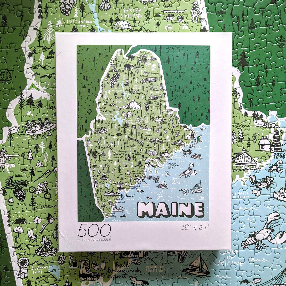 Brainstorm Print and Design Brainstorm Maine State 500 Piece Puzzle