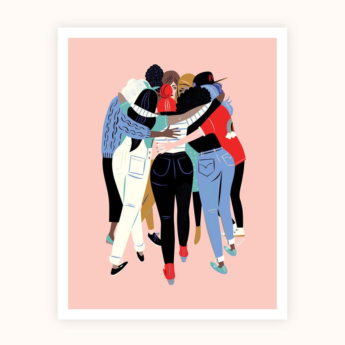 Libby Vander Ploeg - LVP Huddle Print 11 x 14