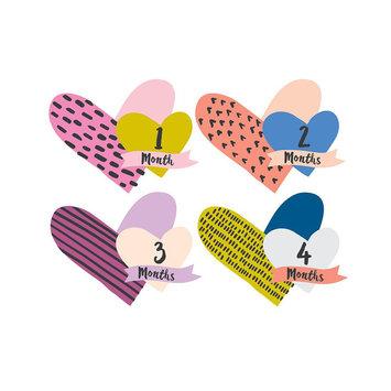 Lucy Darling Little Heartbreaker Milestone Cutout Stickers, 1-12