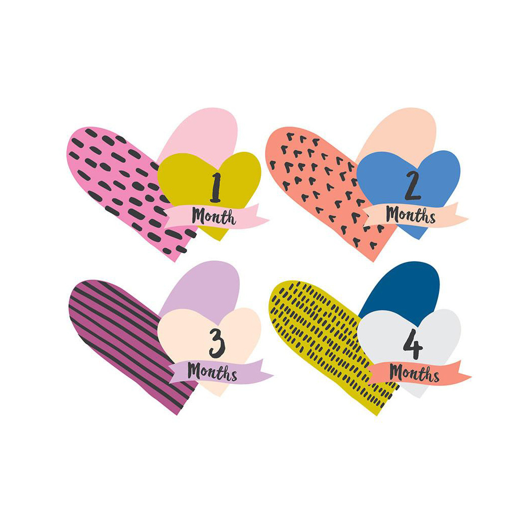 Lucy Darling - LUD Little Heartbreaker Milestone Cutout Stickers, 1-12