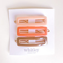Whitley rectangle clip trio in blush, rose and taupe
