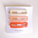Whitley WH AC - Rectangle Clip Trio in Cream, Blush and Rose