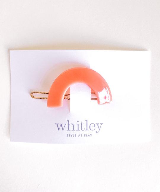 Whitley - WH rose rainbow hair clip