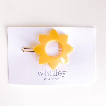 Whitley yellow sun hair clip