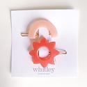 Whitley blush rainbow + rose sun hair clip duo