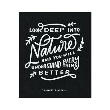 Worthwhile Paper Nature Einstein Quote Print, 8 x 10 inch