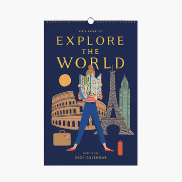 Rifle Paper Co Rifle Paper Co - 2021 Explore the World Wall Calendar