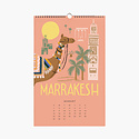 Rifle Paper Co - RP Rifle Paper Co - 2021 Explore the World Wall Calendar