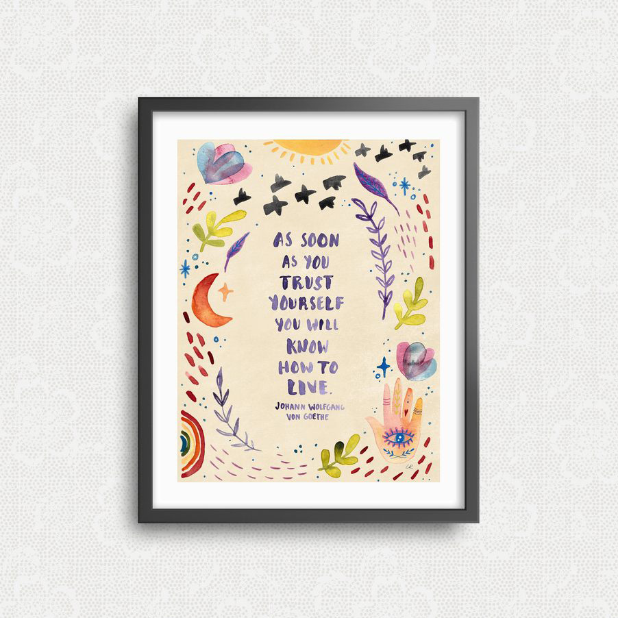 Little Truths Studio - LTS Trust Yourself Print 11 x 14 inch