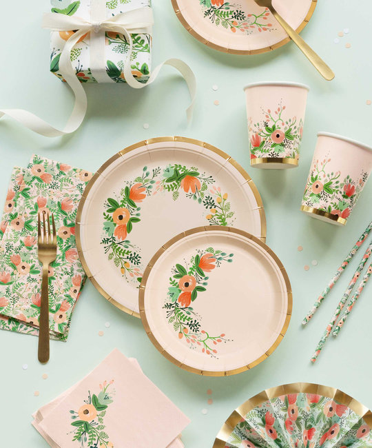 Rifle Paper Co - RP Rifle Paper - Wildflower Large Plates, Set of 10