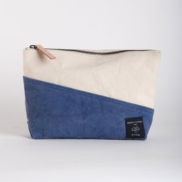 IMMODEST COTTON x Fleabags Bicolor Sardine Pouch, Cornflower