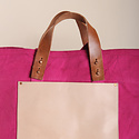 IMMODEST COTTON x Fleabags Immodest Cotton - East West Bucket Tote, Orchid