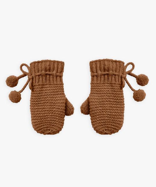 Rylee + Cru - RC Rylee + Cru - Knit Mittens 0 -12 Months, Cinnamon