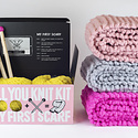 Loopy Mango - LM Loopy Mango - All You Knit Kit: My First Scarf (Various Colors Available)
