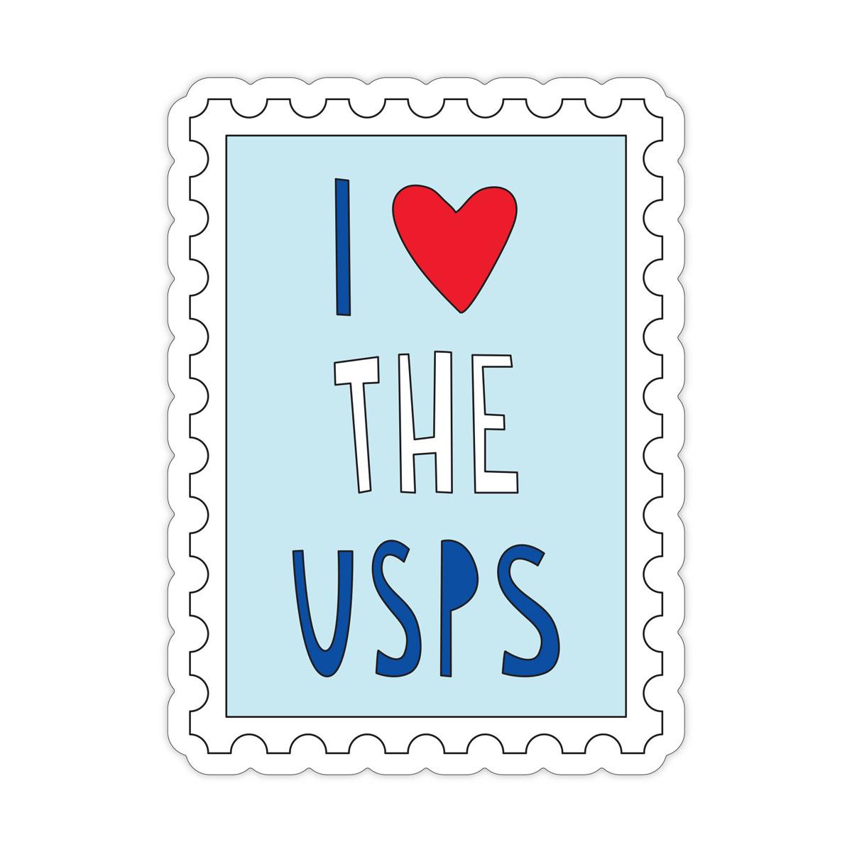 Near Modern Disaster - NMD I Heart the USPS Sticker