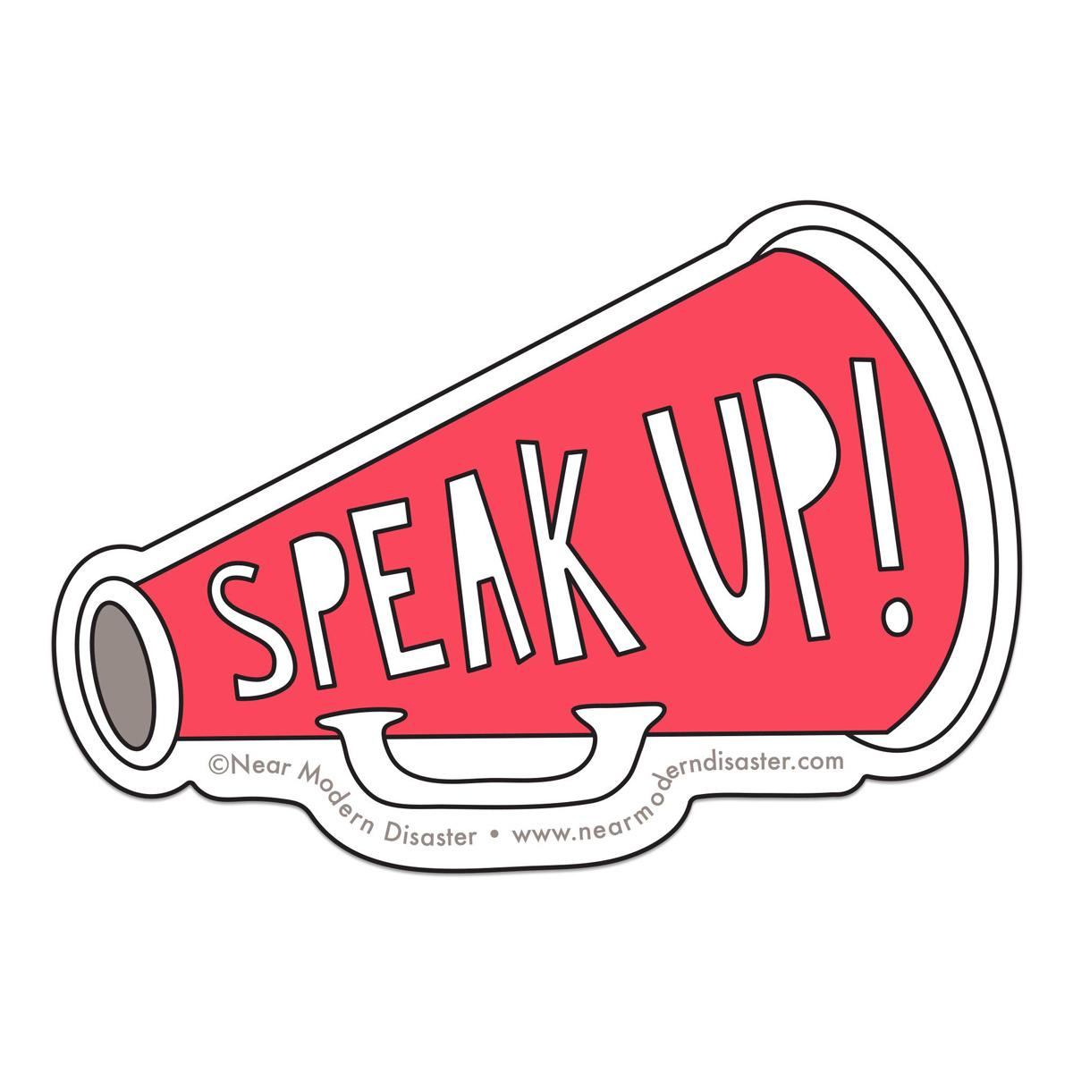 Near Modern Disaster - NMD Speak Up Sticker