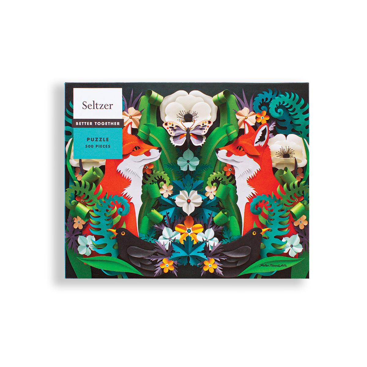 Seltzer Fox Garden 500 Piece Puzzle