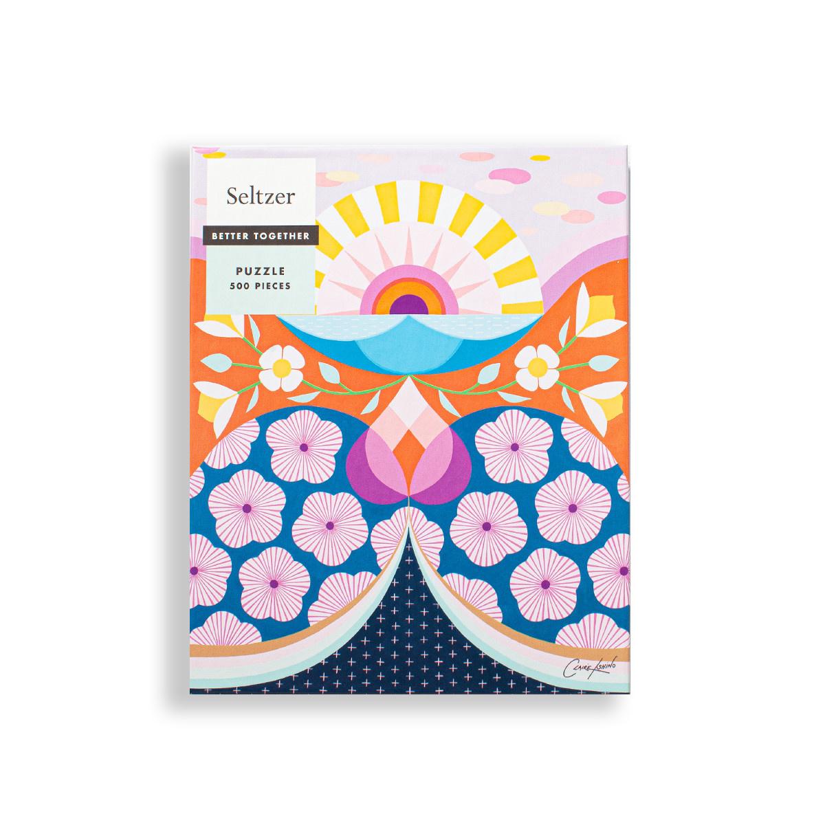 Seltzer Sunshine Flowers 500 Piece Puzzle