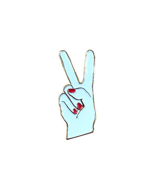 and Here We Are - AHW Peace  Hand - Enamel Pin